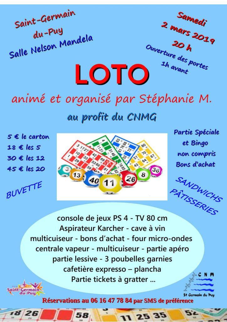 Loto CNMG – 2 mars 2019