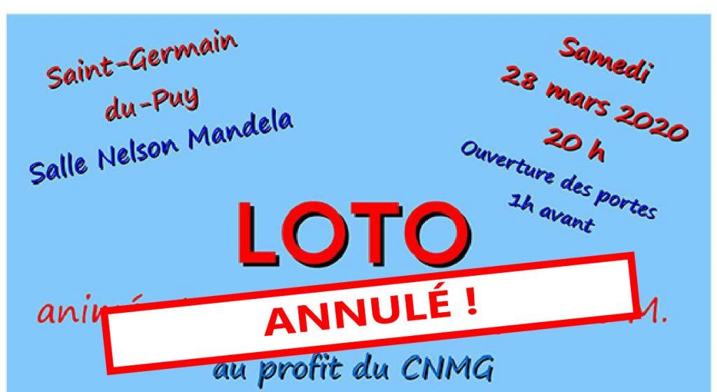 Loto 28 mars 2020 – ANNULE