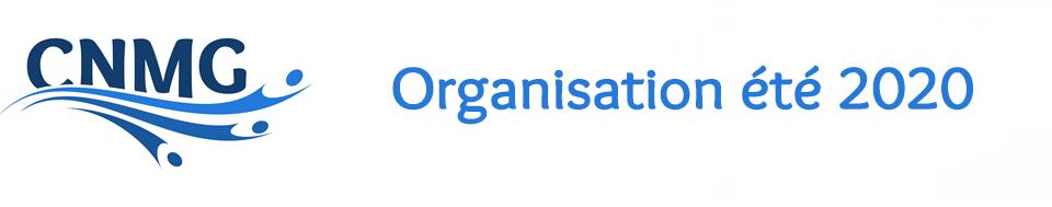Organisation été 2020