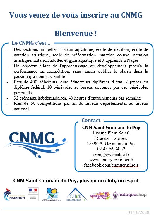 Bienvenue au CNMG