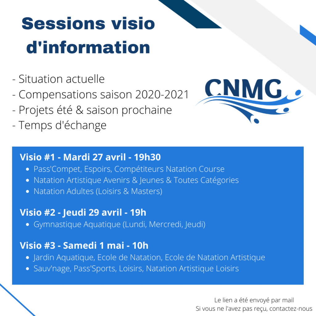 Sessions visio d'informations